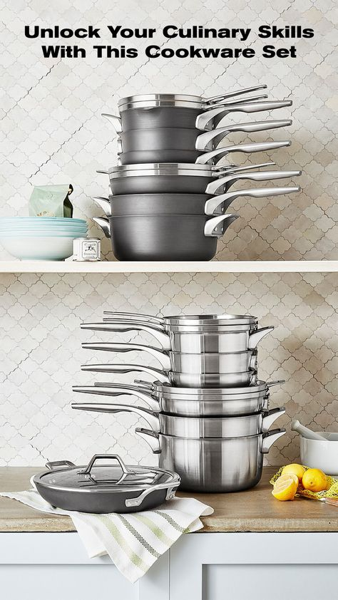 Get inspired in the kitchen with this pro cookware set. #ad