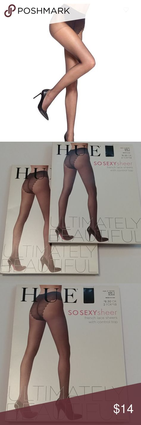 (2) HUE SO SEXY French Lace Sheer pantyhose sz 2 These HUE SO SEXY French Lace Sheer pantyhose are a sexy addition under any outfit. They are new in the package. Please see photos for package details. Feel free to ask questions! Bundle & save! Hue Accessories Hosiery & Socks