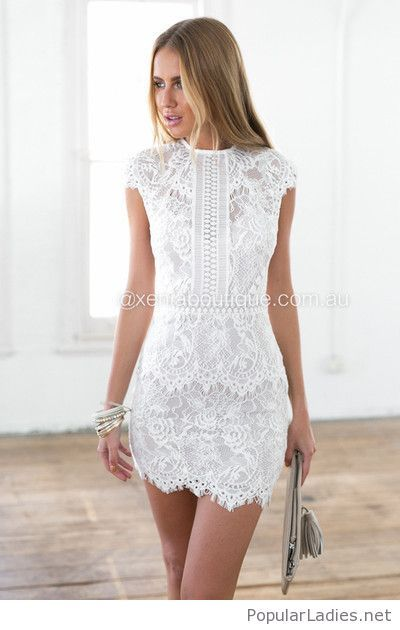 Short Lace Dress On White Lace White Dress White Lace Dress Short Short Lace Dress