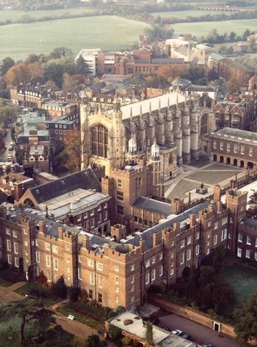 Eton College. Founded on this day 12th September, 1440 by Henry VI (sister college of King's College, Cambridge, which was founded a year later). Seventy King's Scholars still live in the original buildings (most elegant dining hall and ancient classroom with original benches and graffiti).
