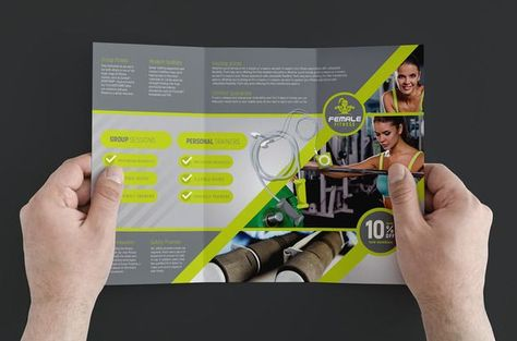 Best Female Fitness Brochure Template CreativeWork247 - Fonts - fitness brochure template