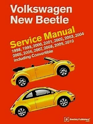 Advertisement Ebay Vw New Beetle Bentley Vb10 Printed Service Manual 98 To 10 Latest Edition In 2020 Volkswagen New Beetle New Beetle Vw New Beetle