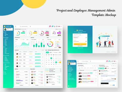 Project And Employee Management Admin Template Mockup In 2020 Free Business Card Mockup Business Card Mock Up Employee Management