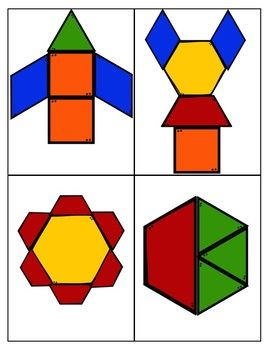 Pattern Block Cards Pattern Blocks Pattern Block Templates