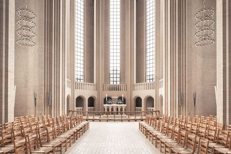 Grundtvig's Church in Copenhagen photographed by Thibaud Poirier. The church is made out of 6 million bricks and took nearly 20 years to build!