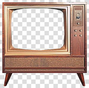 Old Tv S Vintage Brown Cathode Ray Tube Television Frame Transparent Background Png Clipart Framed Tv Old Tv Transparent Background