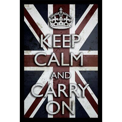 Buy Art For Less Keep Calm And Carry On Framed Textual Art Hanging Canvas Keep Calm Frame
