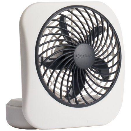 Treva 5 Inch Portable Battery Powered 2 Speed Desktop Fan Gray