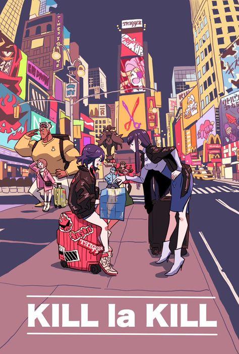 Kill La Kill, Aesthetic Art, Aesthetic Anime, Fan Art, Mode Cyberpunk, Ichigo Y Rukia, Manga Anime, Anime Art, Character Art