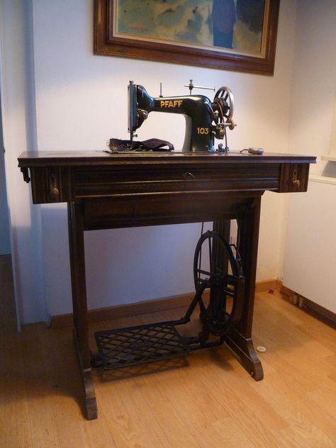 Sammlerstück! Alte Nähmaschine Pfaff 103, alles original! Aus - kohler k chenmaschine ersatzteile