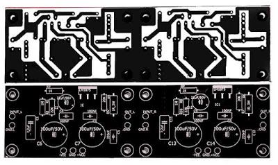 Stereo Gainclone Power Amplifier LM1875 | PCB's Layout