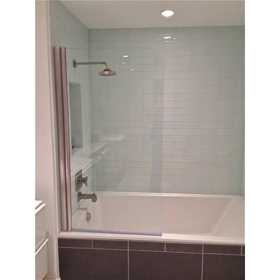 33 5 X 60 Pivot Frameless Tub Door With Clearshield Technology Tub Doors Bathroom Styling Bathroom Renovations