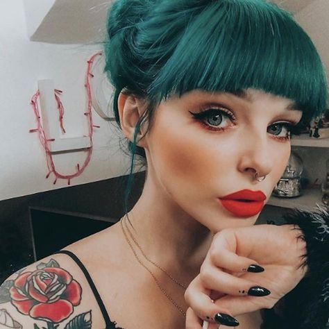 These Teal Hair Looks Will Convince You to Strut Like a Peacock