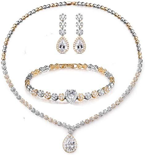 Great For Hadskiss Jewelry Set For Women Necklace Dangle Earrings