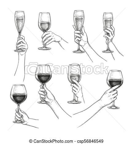 Hand Holding Wine Glass Google Search Wine Glass Drawing Art