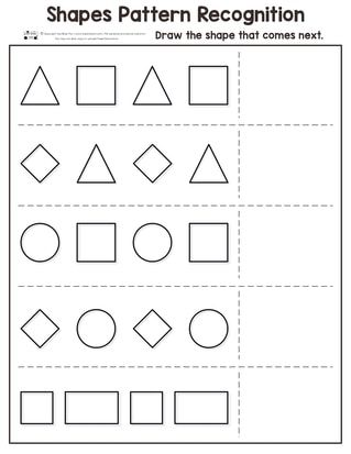 Shapes Pattern Recognition For Kindergarten Itsybitsyfun Com Pattern Worksheets For Kindergarten Shapes Worksheet Kindergarten Kindergarten Worksheets