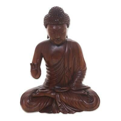 Ebay Sponsored Buddha Peace Meditation Statuette Artisan Crafted Balinese Suar Wood Novica In 2020 Buddha Peace Buddha Meditation Buddha