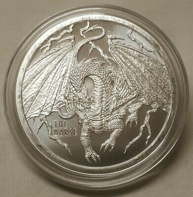 Details About 1oz Norse Dragon 999 Fine Silver Round 4th Coin In World Of Dragon Series