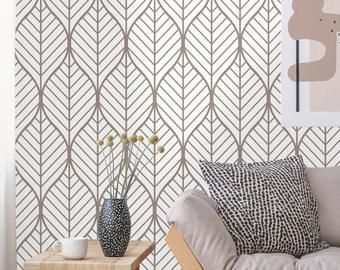 Removable Wallpaper Peel And Stick Geometric Wallpaper Etsy In 2020 Geometric Wallpaper Removable Wallpaper Art Deco Wallpaper