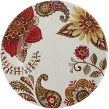 Baily Dinner Plate Flower Art Pottery Painting Ceramic Artwork