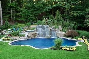 Swimming Pool Waterfall Designs - Home Design Elements ...