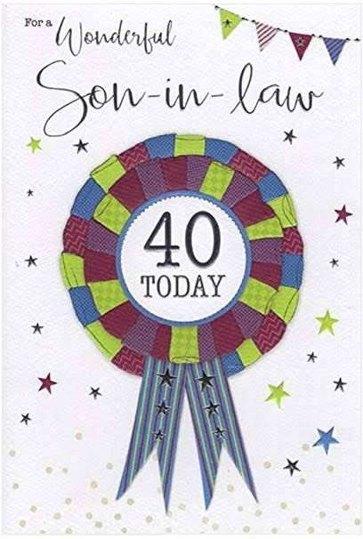 Best Card For Son In Law Birthday Cards For Son 30th Birthday Cards 60th Birthday Cards