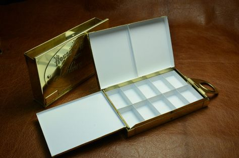 Handmade Brass Metal Watercolor Palette Box Made One At A Time For