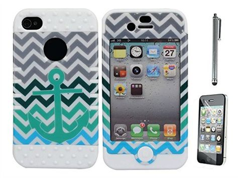 Best Fine iPhone 4 4s 4G 4th Case,Multi Color Hybrid Three Layers Armor iPhone Case-Waves Blue Anchor Pattern Silicone TPU Defender Back+Front Soft Home Return Key Button White Internal Hard Shell Shockproof Full Body Protective Box Case Cover for iPhone 4 4S 4G 4th Generation(Free Gift:Soft Fish Bone Phone Earphone/USB Charge Cables Cord Winder) Best Fine http://www.amazon.com/dp/B00T6FBWH0/ref=cm_sw_r_pi_dp_n4B-ub1P4BDTZ