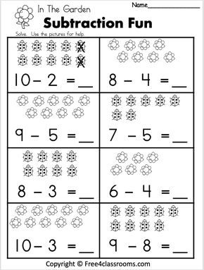 Free 1 Digit Subtraction Math Worksheet Free4classrooms Kindergarten Math Worksheets Free First Grade Math Worksheets Kindergarten Subtraction Worksheets
