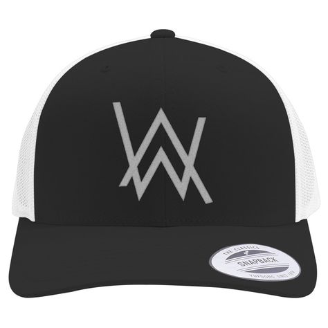 Alan Walker Logo Retro Embroidered Trucker Hat
