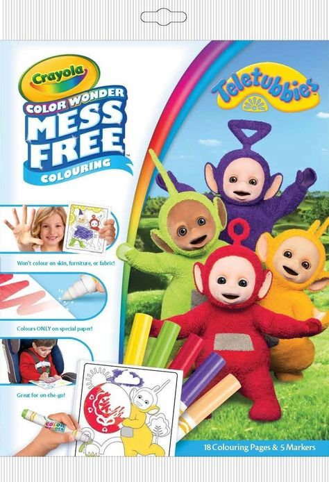 3.8 GBP - Crayola Color Wonder Teletubbies Mess Free Magic Colouring ...
