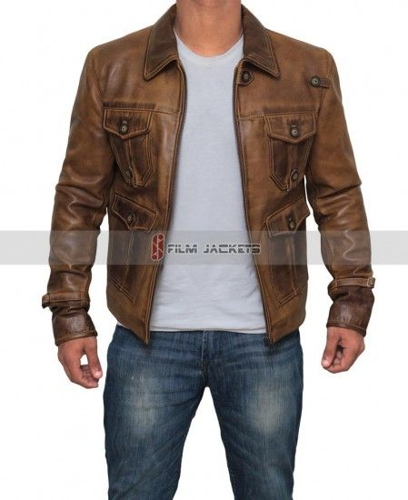 e10fe1fe2 Mens Distressed Cognac Vintage Leather Jacket in 2019 | Film Leather ...