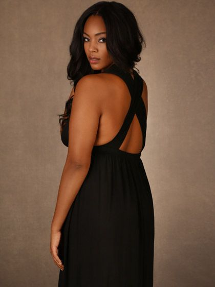 Plus Size Soft and Comfy Dress with Criss Cross Back, Black