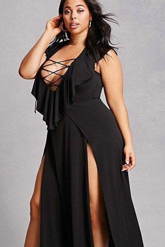 Plus Size M-Slit Maxi Dress in 2019 | Products | Maxi dress ...