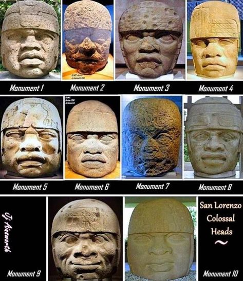 What Makes the Olmec Culture So Unique and Alluring? 10 Colossal Heads from San Lorenzo. Asian History, African American History, Art History, British History, Black History Facts, Strange History, Ancient Aliens, Ancient History, Tudor History