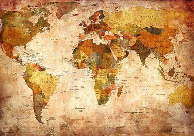 Details Zu Weltkarte Landkarte Vintage Fototapete Vlies Tapete Xxl