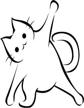 Ausmalbild Katze Macht Dehnubung Zum Ausmalen Ausmalbilder