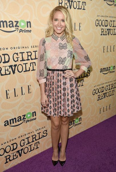 Actress Anna Camp attends the Amazon red carpet premiere screening of original drama series 'Good Girls Revolt.'