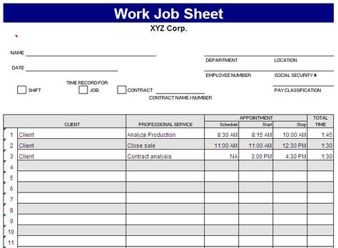 Daily Work Task List Template This sheet is created by Jaxworks - employee task list