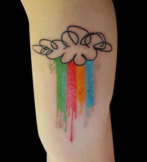 Funny Rain Tattoo Ideas: Simple Rain Tattoo Design ~ Tattoo Design Inspiration