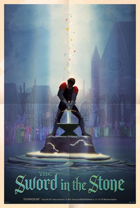 Look at This Beautiful Poster for The Sword in the Stone | Oh My Disney