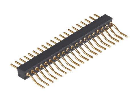100Pcs 2mm Pitch 16 Pin Female Single Row Straight Pin Header Strip