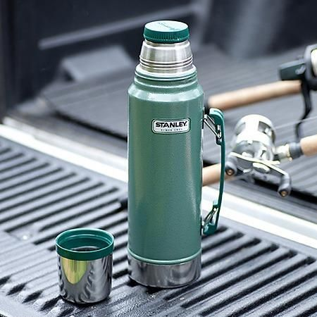 Stanley Classic Vacuum Flask Hammertone Green 1 1 Litre Thermal Flask Vacuum Flask Flask