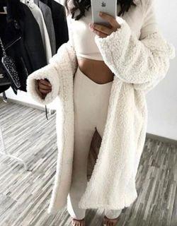 weiße winterjacke damen