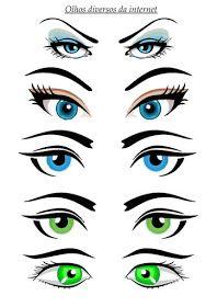36 Melhores Imagens De Olhos Para Imprimir Molde De Olhos Olhos
