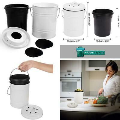 Komposteimer Fur Kuche 4 Liter Biomull Behalter Mit 1 Mulleimer Innen U Ebay Komposteimer Bio Mulleimer Mulleimer Kuche