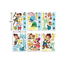 Maak van jouw kamer een stoere Jake en de Nooitgedachtland Piraten kamer met deze Walltastic Muurstickers! Inclusief groeimeter in Jake en de Nooitgedachtland Piraten thema.De stickers kunnen op elk glad oppervlakte worden geplakt als muren, meubels en zelfs ramen: Eenvoudig aan te brengen, te verplaatsen en te verwijderen.Stickerbox met in totaal 72 stickers. ;6 vellen van 46 x 34 cm