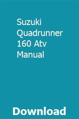 Suzuki Quadrunner 160 Atv Manual Auxiliary Power Unit Atv Suzuki
