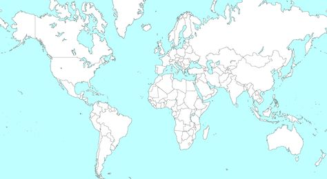 Large Blank World Map With Countries Large Blank World Map World - Large blank world map