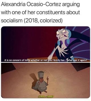 Alexandria Ocasio Cortez Arguing With One Of Her Constituents About Socialism 2018 Colorized Ifunny Historical Memes Disney Memes Funny Memes